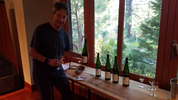 Smith-Madrone Riesling vertical Art Lehman Sept 2018 Art